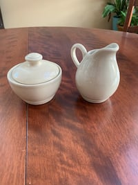PFALTZGRAFF CAPPUCCINO Sugar Bowl w/ Lid & Creamer Small Pitcher Set  Mint condition