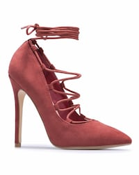 Laced up pointed toe pumps Kennesaw, 30152