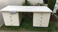 white wooden single pedestal desk Surrey, V3S