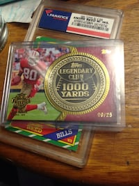 2013 Topps Jerry Rice Legendary Coin Card /25 Gold  Dayton, 37373