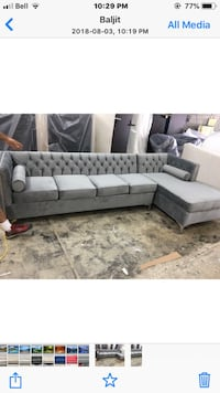 gray and white sectional couch Mississauga, L5S