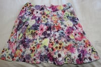 Pleaded Floral skirt North Vancouver, V7J 1R3
