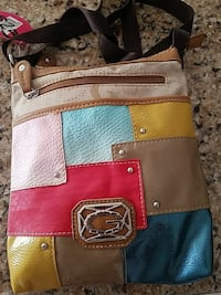 multicolored Guess leather crossbody bag