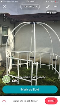 black metal portable PVC gazebo screenshot Garden Grove, 92844