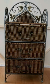 Wicker and Metal 3 Drawer Stand Oklahoma City, 73112