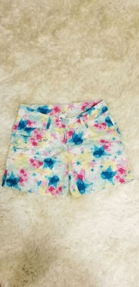 blue, pink, and green floral shorts Ottawa