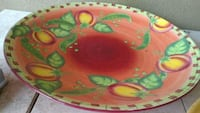green and red floral ceramic plate Surrey, V3V 6B8