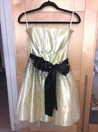 Strapless Yellow and Black Party Dress size 13 Montréal, H1S 2S9