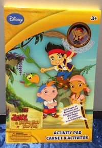 DISNEY JAKE AND THE NEVER LAND PIRATES STICKER ACTIVITY PAD with Stickers Brampton, L7A 3M5