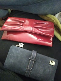 red leather tote bag and long wallet Tyler, 75708
