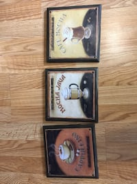 3 tin coffee plaques for your kitchen. Cute! Paid $15 each   Fennville, 49408