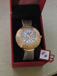 Burgi New Ladies Watch Awesome Bling! $495 Retail LOOK! obo