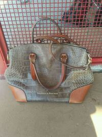 gray and brown leather tote bag Albuquerque, 87123