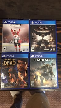 four assorted PS4 cases Langford, V9B 3H4