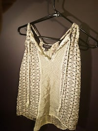 women's brown and white spaghetti strap top Crysler, K0A 1R0