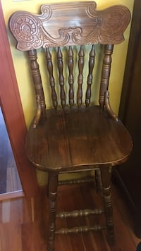 brown wooden windsor chair Vancouver, V5Y 2R2