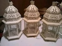 three white candle hangers Mission, 78574