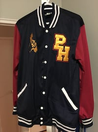 Black, red and yellow PH letterman jacket . Size large condition 10/10 Toronto, M3H