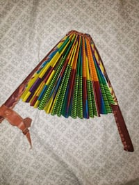 African hand fan. colorful and powerful