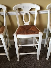 two white wooden armless chairs Linganore, 21774