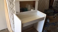 white wooden desk with hutch Burnaby, V3N 1H9