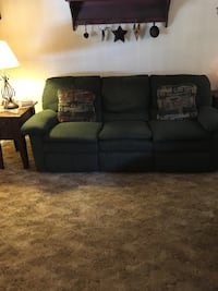 Berkline couch and love seat with recliners