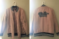 Pink and black bomber jacket