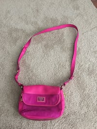 Fossil leather pink cross body bag Calgary