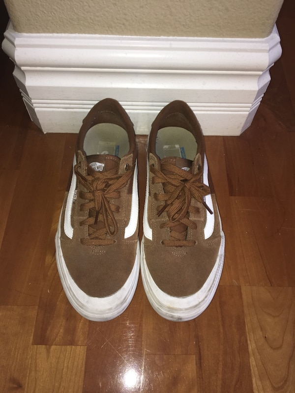 Negotiable.  Size 10 Vans pro model skateboard sneakers