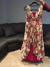 Floral pattern party gown