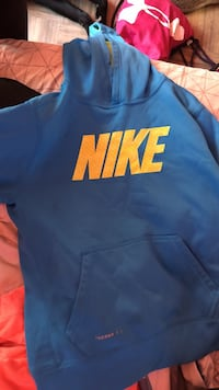 blue and orange Nike pullover hoodie Combined Locks, 54113