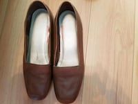 pair of brown leather slip on shoes Atlanta, 30349
