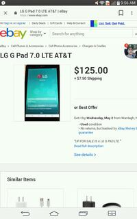 At&T G pad 7.0 LTE Haw River, 27258