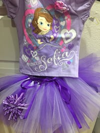 purple princess sofia tutu dress Santa Paula