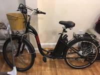 Black and gray motorized bicycle 40 km