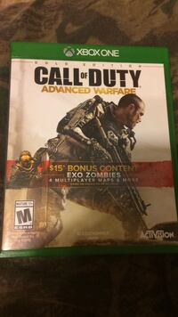 Call of Duty Advanced Warfare Xbox One game case Hebron, 41048