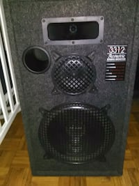 black and gray subwoofer speaker Toronto, M6H 2X9