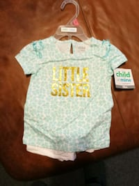 Girls short set 18 months bnwt