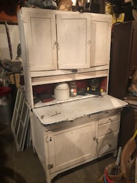 Oak Hoosier Cabinet with flower bend and mill bend Johnson City, 37615