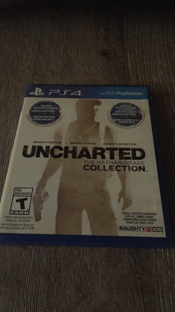 Uncharted The Nathan Drake Collection PS4 game case 8885755f-a652-45f5-9694-fdc9027f0507