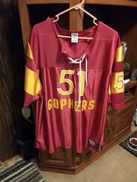 """Pink"" Mn. Gophers Lace Up Jersey"