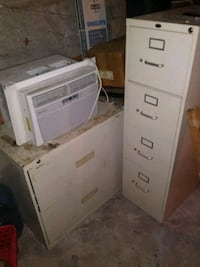 1 air conditioner, 2 filing cabinet used. Jersey City, 07304