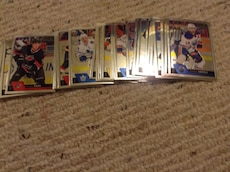 assorted ice hockey trading cards