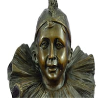Happy Pierrot Bronze Sculpture (13X5 Inches) Sterling