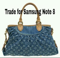 blue and brown Louis Vuitton leather tote bag Houston, 77038