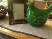 Ceramic rooster and picture frame Philadelphia, 19114