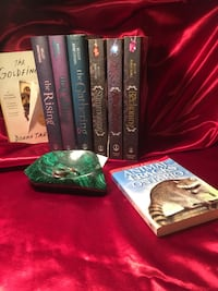 Kelly Armstrong books, animal tracks book, big green malachite stone and two sterling silver rings, message for prices and details St Thomas, N5P 1Z9