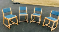 Four matching two position chairs. Front Royal, 22630