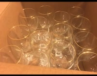 Gold rim wine glasses  Raleigh, 27606