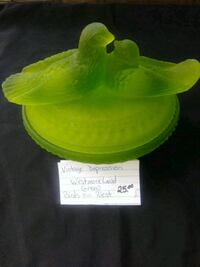 green and white plastic container Buckeye Lake, 43008